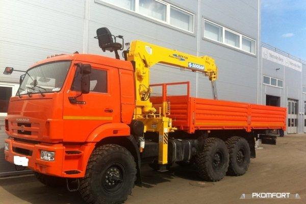 Кран борт КамАЗ-43118